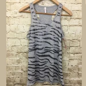 Xhilaration Ladies Sequin Tank Gray Black Sequin